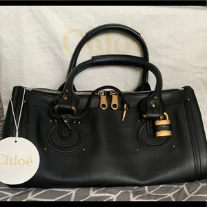 Chloe pure paddington leather bag